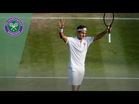 Wimbledon has made a video of all 100 match points of Federer.