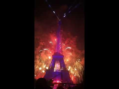 feu d'artifice - Paris - 14 juillet 2017