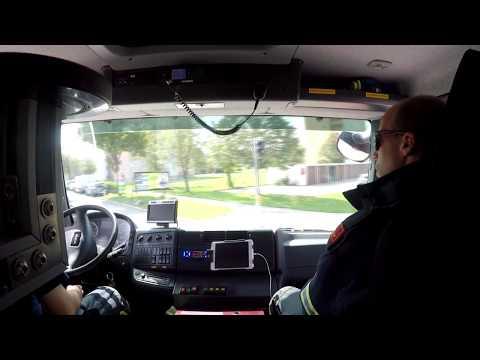 Feuerwehr Einsatzfahrt-HLF 3 Brandalarm mit Folgeeinsatz (Feuerwehr Einsatzfahrt #04-Inside view)
