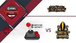 Egamink E-sport vs E-Blue Digital Paradox | ESL Mistrzostwa Polski S16. W7D1