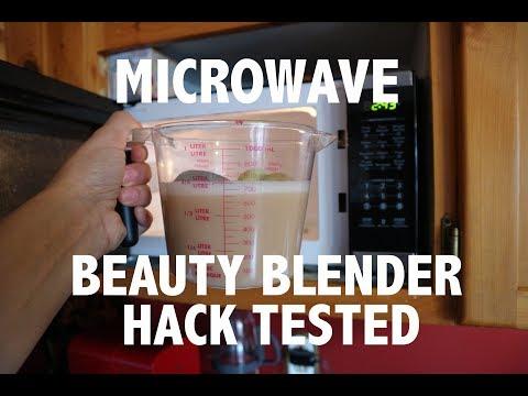 MICROWAVING BEAUTY BLENDER HACK TESTED!!
