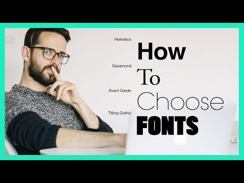 How To Choose Fonts