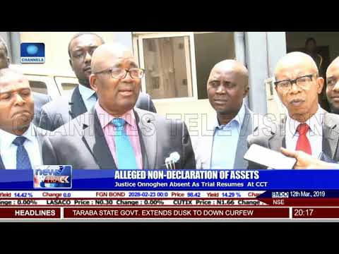 Justice Onnoghen Absent As Trial Resumes At CCT