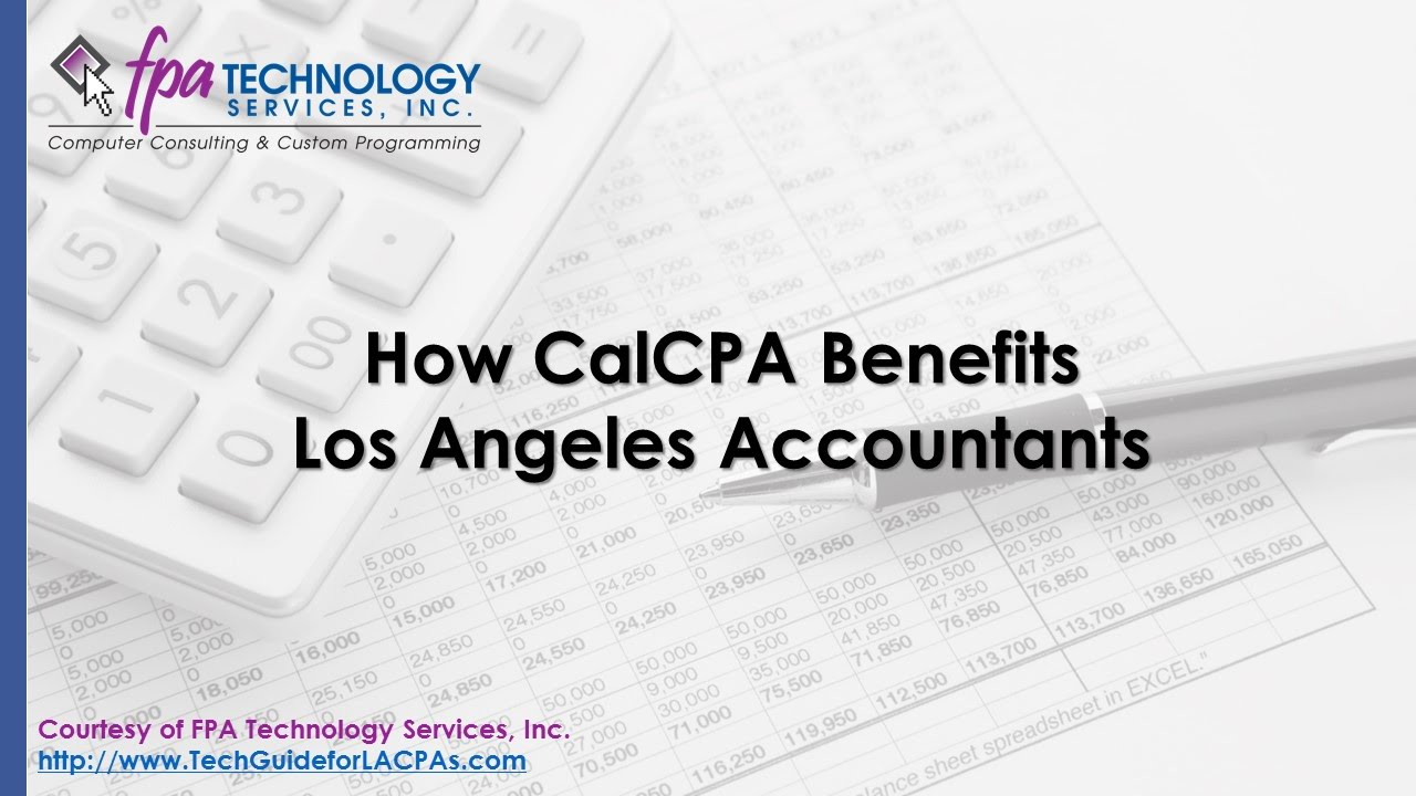 How CalCPA Benefits Los Angeles Accountants
