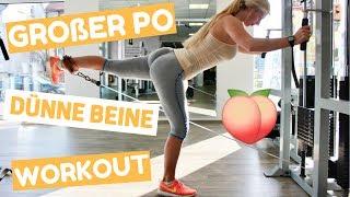 Großer Po & dünne Beine Workout I Beinfett abnehmen + Po aufbauen? I Dyedblondpony