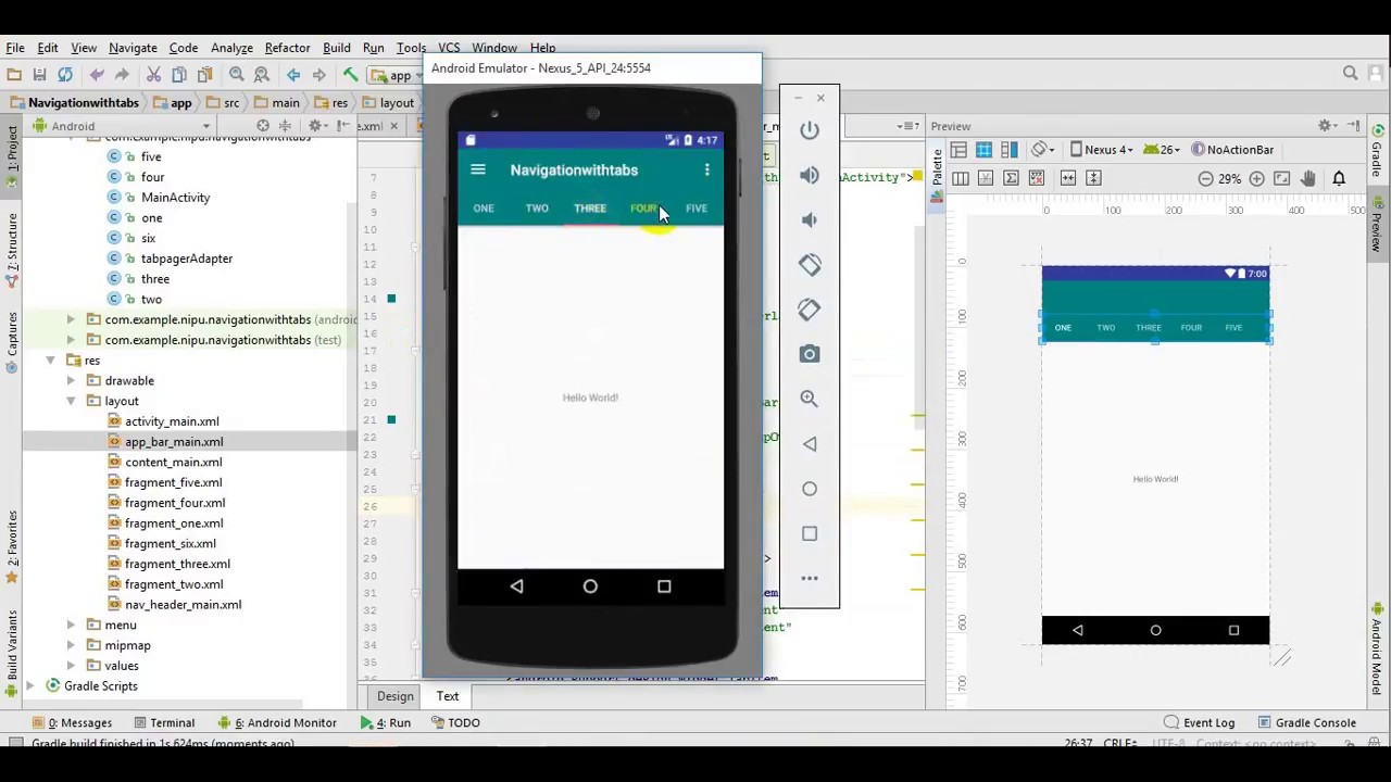 Android Studio: Use Navigation Drawer with Tabs