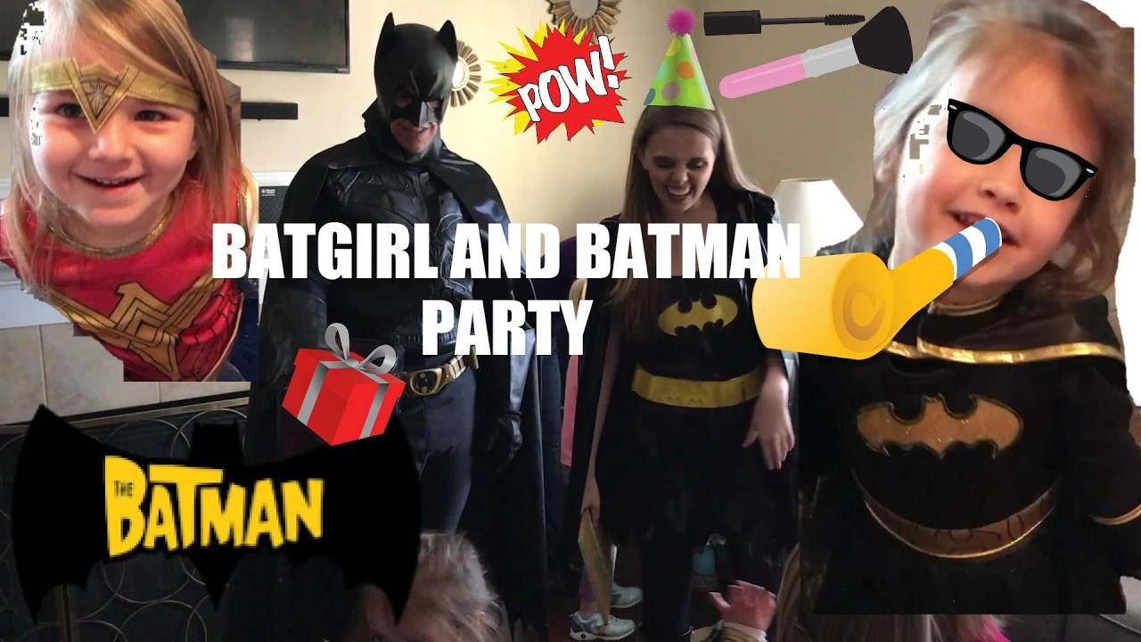 azlynn's batgirl birthday party disney batman piñata - youtube
