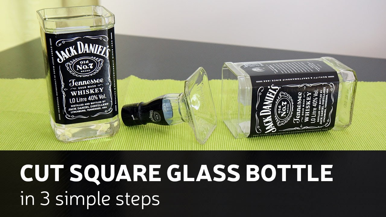 Diy Cut Square Glass Bottle In 3 Simple Steps Youtube
