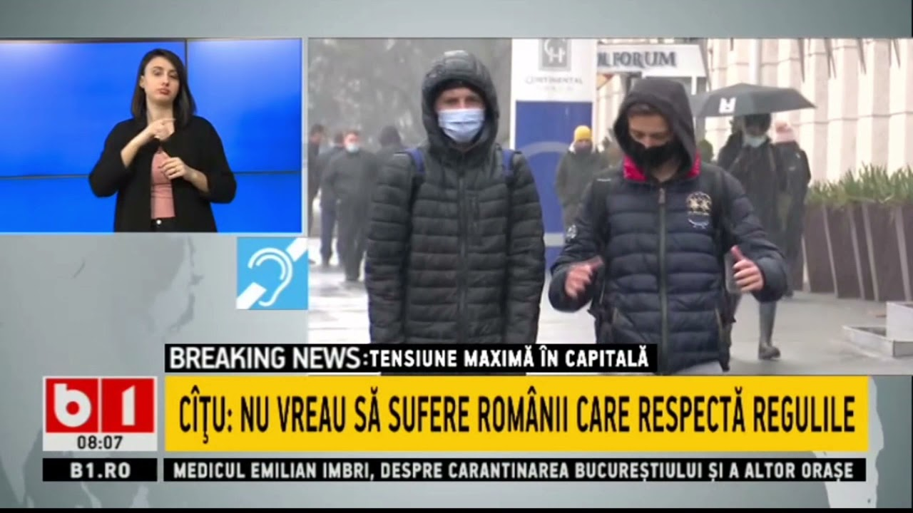 TENSIUNE MAXIMA - CARANTINTAREA BUCURESTIULUI AMANATA PENTRU MOMENT_Stiri B1_23 martie 2021