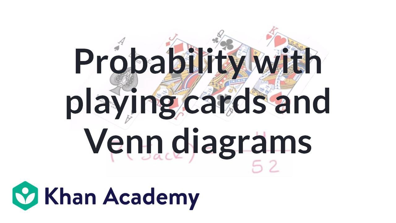 probability with playing cards and venn diagrams