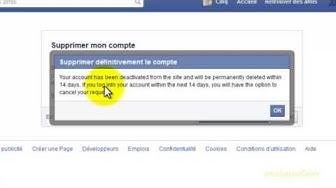 Comment supprimer mon compte Facebook Définitivement