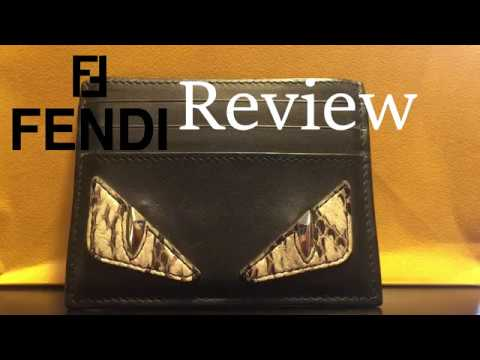 df2fa3780a1 Fendi card holder Review - YouTube