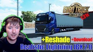 ETS2  MODS Реалистичная Графика в ETS 2 Realistic Lightning JBX 2.0 + Reshade