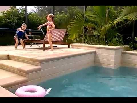 little boy enjoy swimming pool  YouTube