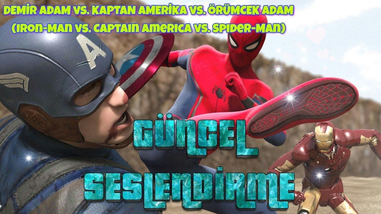 Demir Adam vs. Kaptan Amerika vs. Örümcek Adam 1.Bölüm - Animasyon / GÜNCEL SESLENDİRME