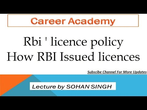 How RBI Issued licences