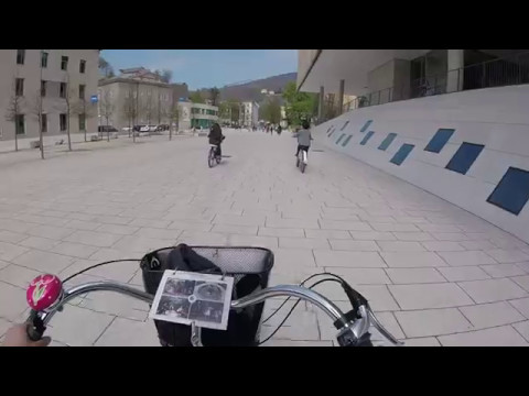 Riding through the University of Salzburg