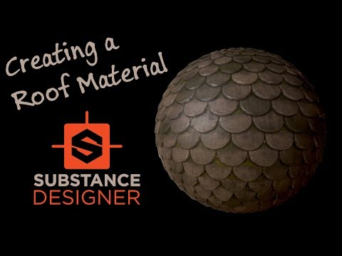 Creating A Roof Material In Substance Designer