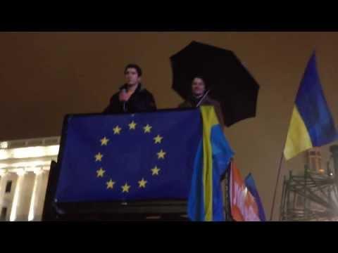 Piosenka z euromajdan 2013 / Revolution Ukraine/  Пісня з ЄвроМайдану 2013