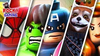 БОЛЬШИЕ ПРИКЛЮЧЕНИЯ МАЛЕНЬКИХ ГЕРОЕВ! Рокки играет в Lego Marvel Super Heroes 2! Сборник. 6+