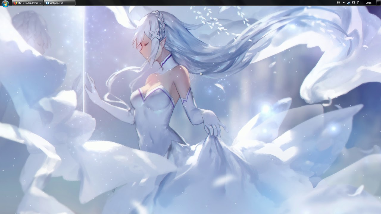 Re Zero Emilia Snow Wallpaper Engine Youtube