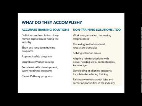 INDUSTRY PARTNERSHIPS 101: What, Why, How and Impact - Recorded July 10, 2013
