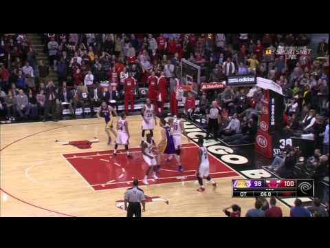 Lakers at Bulls: Last Second Shot by Taj Gibson From Lakers Colossal Mistake