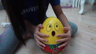 Emojili Sürpriz Yumurta Challenge Yumurtadan Çıkan 2 malzeme ile Slime vs Yapboz Yap Bidünya Oyuncak