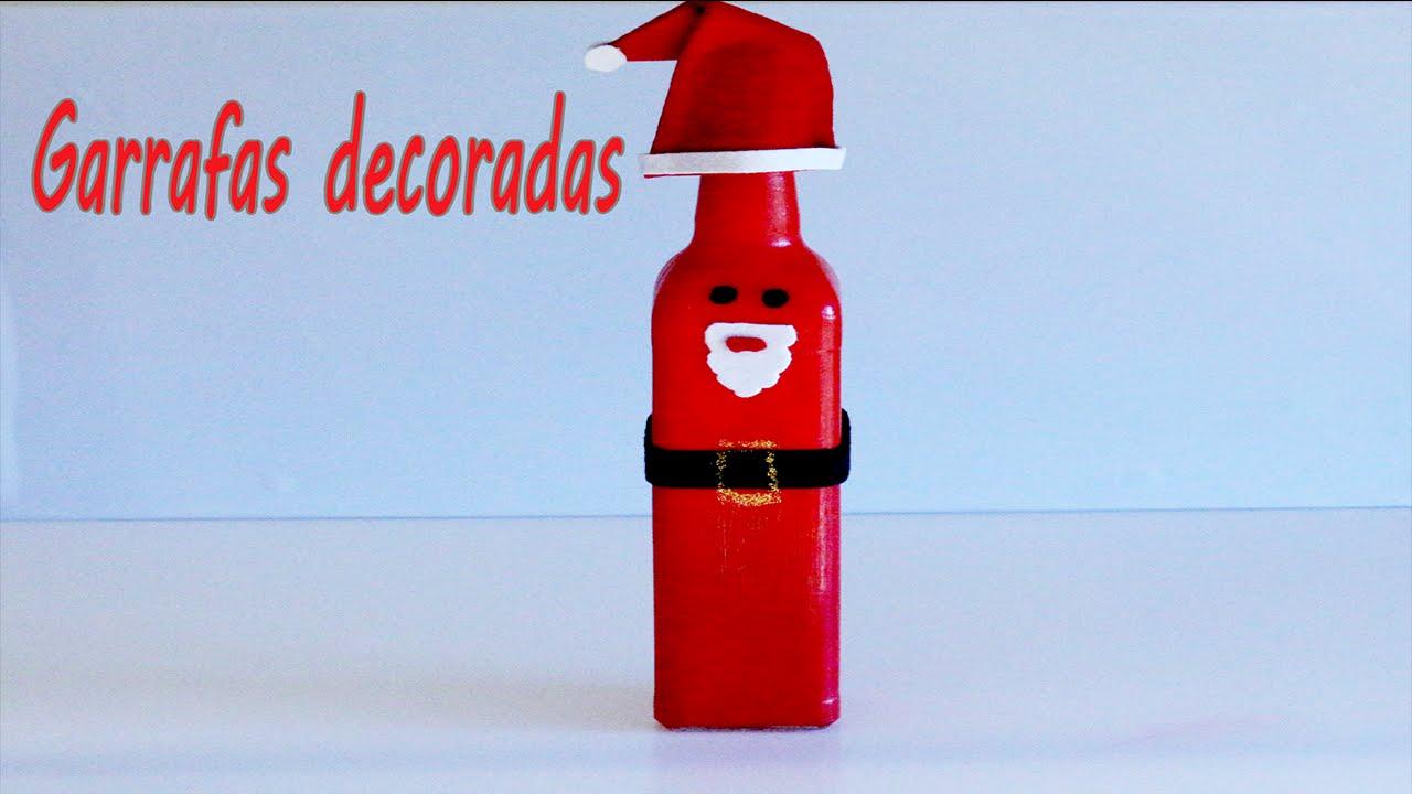 Artesanato Na Tv Arte Brasil ~ Natal Garrafa Papai Noel YouTube