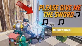 Random Guy Gives Me SWORD When I SING To Him | FORTNITE