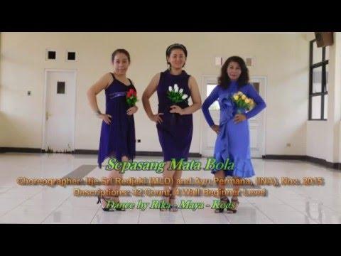 Sepasang Mata Bola - Line Dance
