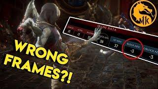 Incorrect Frame Data on Mortal Kombat 11   MK11 Tips