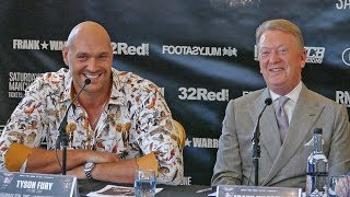 HILARIOUS!! Tyson Fury vs. Sefer Seferi FINAL PRESS CONFERENCE | Frank Warren Promotions boxing