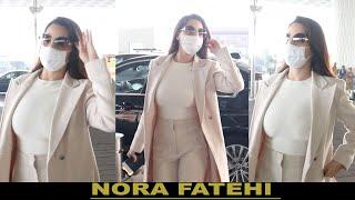 NORA FATEHI SPOTTED AT MUMBAI AIRPORT TO FLY FOR  DUBAI II FILMYSTARS II