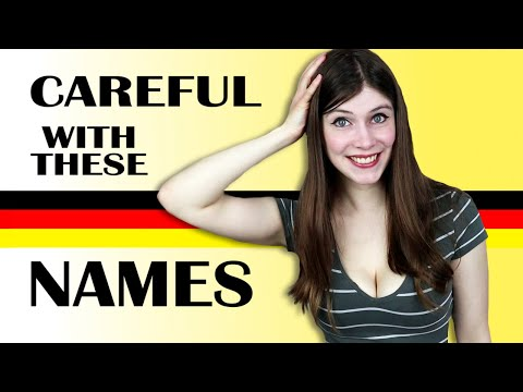 English Names With FUNNY GERMAN MEANINGS