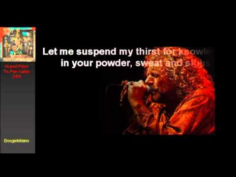 Robert Plant Tin Pan Valley With Lyrics