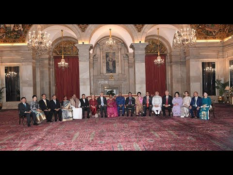 President Kovind receives ASEAN Heads of State and Government at Rashtrapati Bhavan