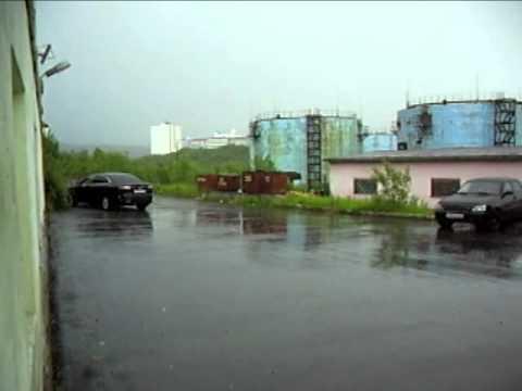 Дождь и гром в Североморске 29 06 2015