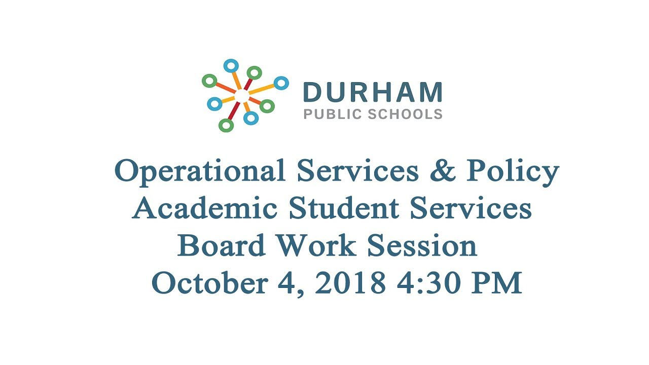 Durham Public Schools Board Of Education Monthly Meeting September
