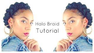 EASY Halo Braid Tutorial - Natural Hair | Crown Braid