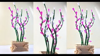 Paper Flowers | Paper Craft | Paper Crafts For School | Flower Vase Decoration Ideas