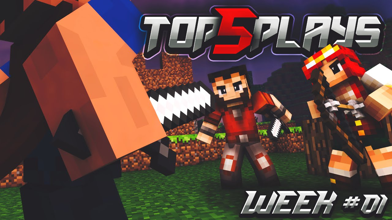 Minecraft Pvp Top 5 Plays Of The Week 1 Youtube