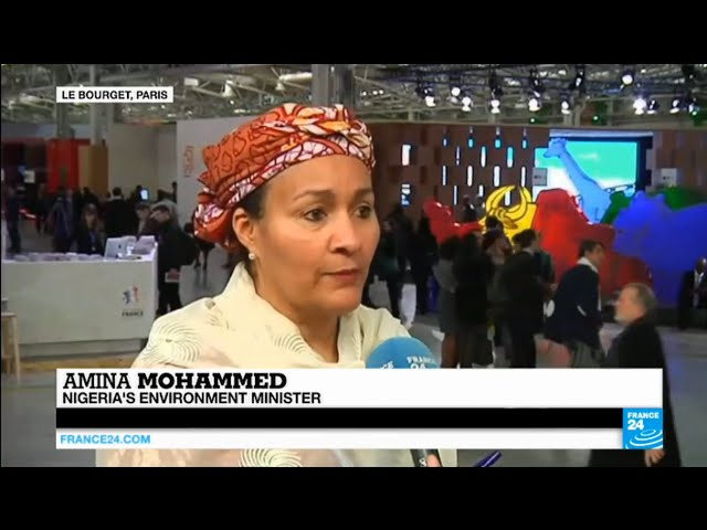 """Paris Climate Conference: Nigeria's environment minister Amina Mohammed on the """"Great Green Wall"""""""