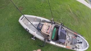 ascend fs12t fishing kayak setup kayak transducer mount