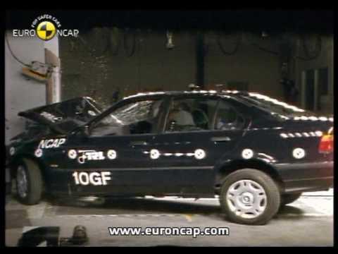 euro ncap bmw 3 series 1997 crash test youtube. Black Bedroom Furniture Sets. Home Design Ideas