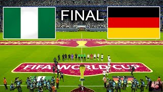 PES 2021 Nigeria vs Germany Final FIFA World Cup 2022 Full Match All Goals HD Gameplay PC