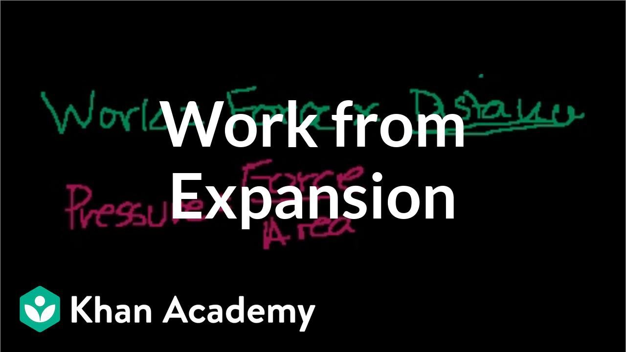 Work from expansion (video) | Thermodynamics | Khan Academy