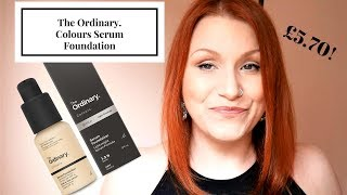new the ordinary colours serum foundation first impression 8hr wear test review demo