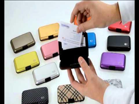 Portafoglio porta carte di credito in alluminio Ogon Designs ...