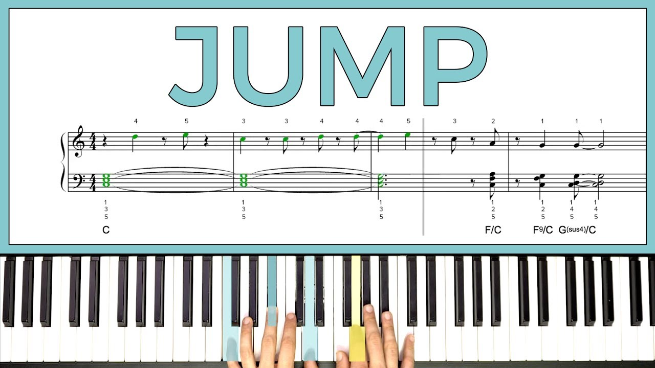 How To Play Jump By Van Halen On The Piano Playground Sessions Youtube